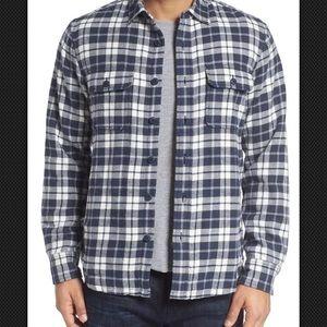 Nordstrom Size Medium Slim Thermal Flannel Shirt